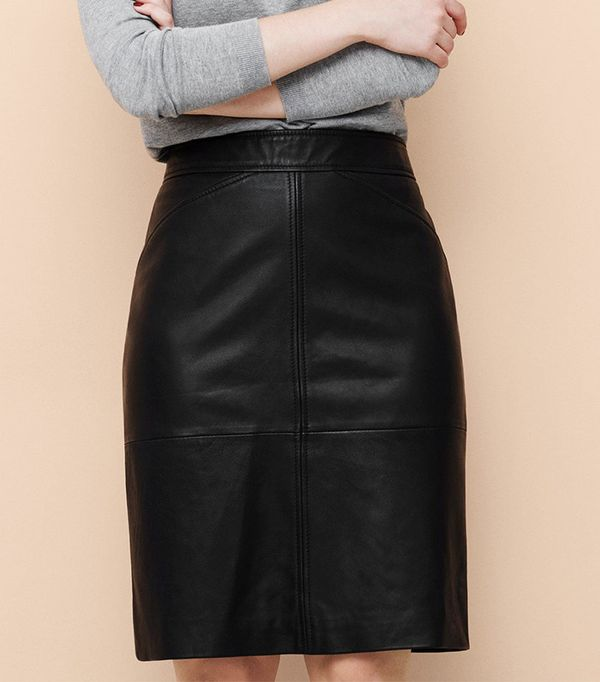 Mango Leather Skirt