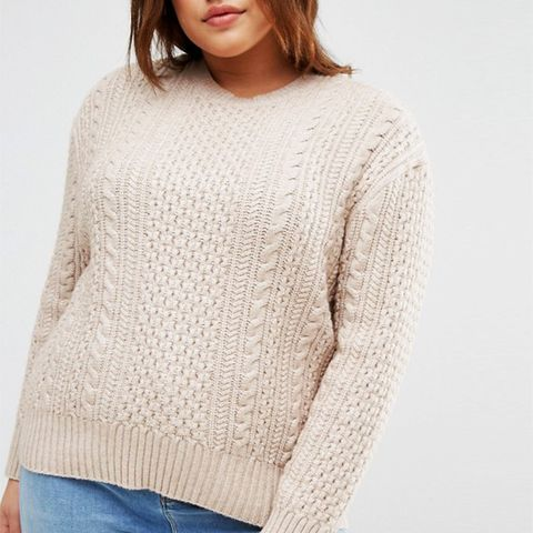 Cable Sweater in Slouchy Shape