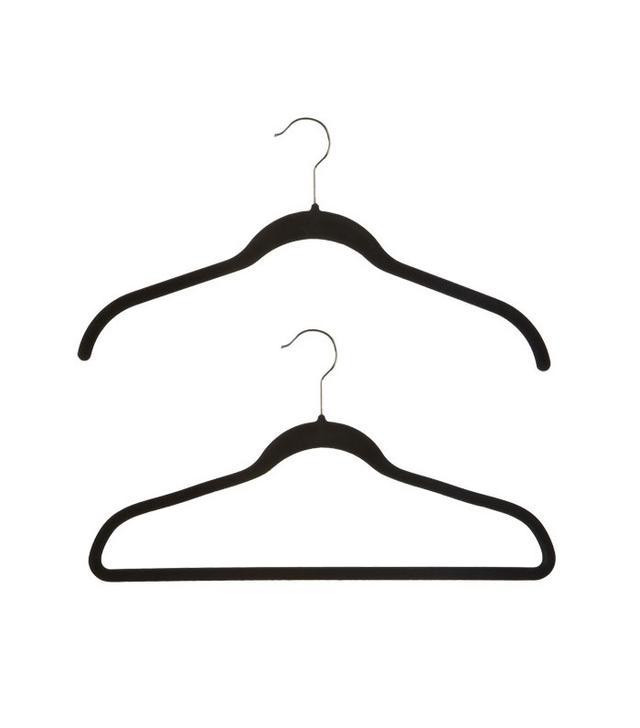 Container Store 40 Joy Mangano Black Huggable Hangers