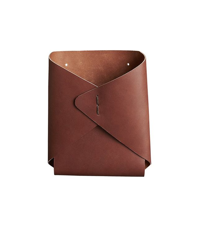 CB2 Leather Wall-Mounted Catchall