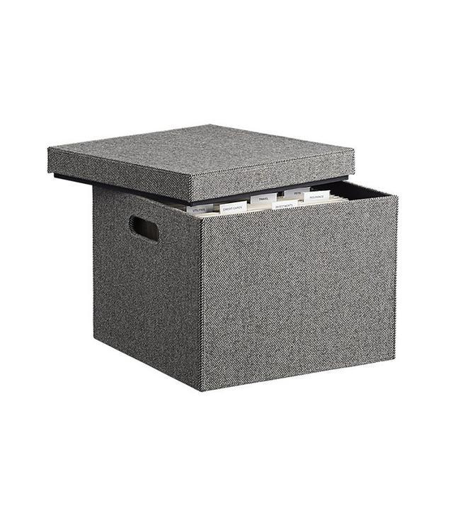 CB2 Tailor File Box
