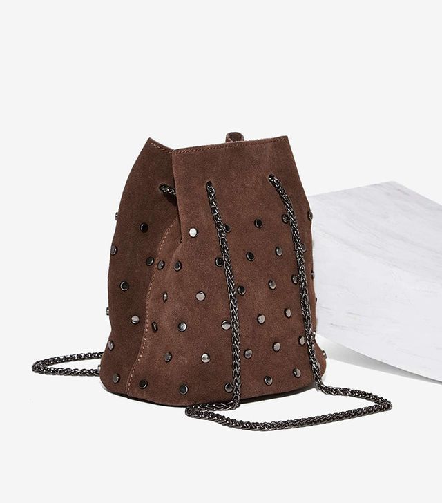Nasty Gal Put the Radio On Suede Mini Bag