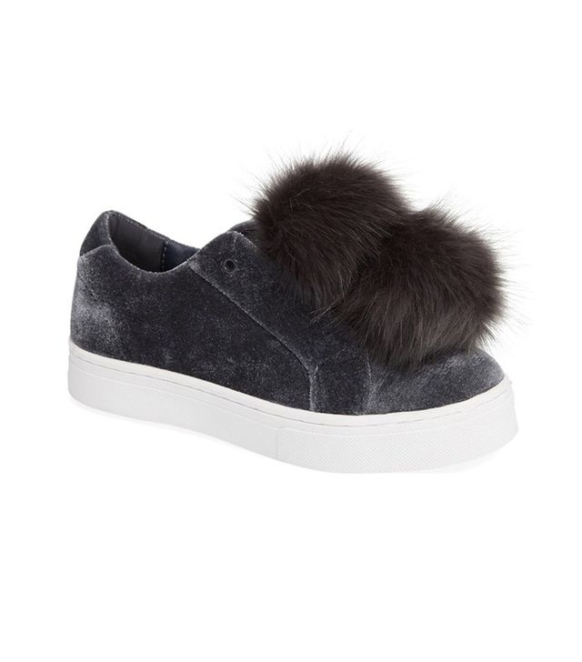 Sam Edelman Leya Faux-Fur Laceless Sneakers