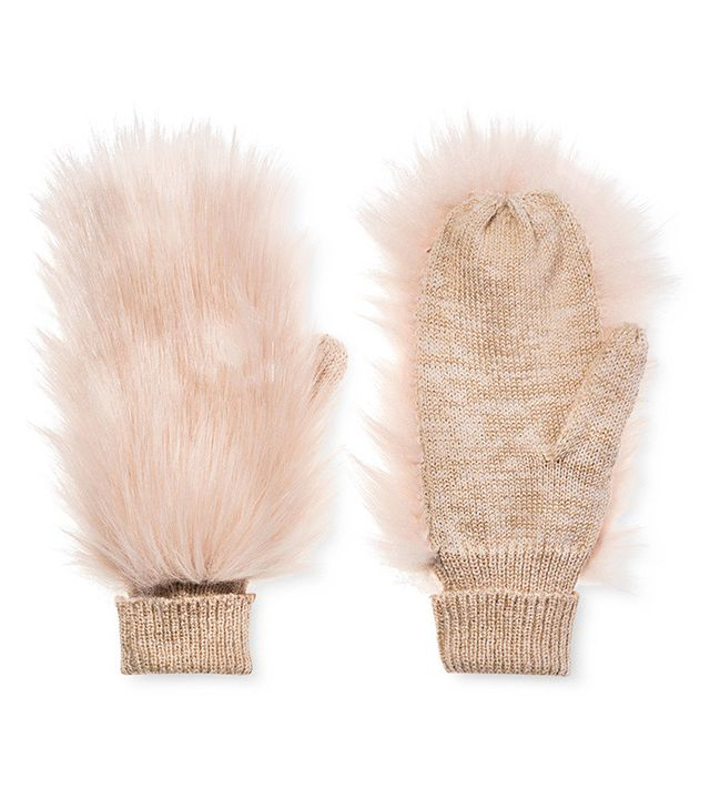 Who What Wear Fur Mittens