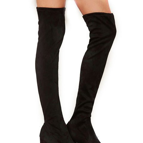 Tight Off the Bat Over-the-Knee Microsuede Boot
