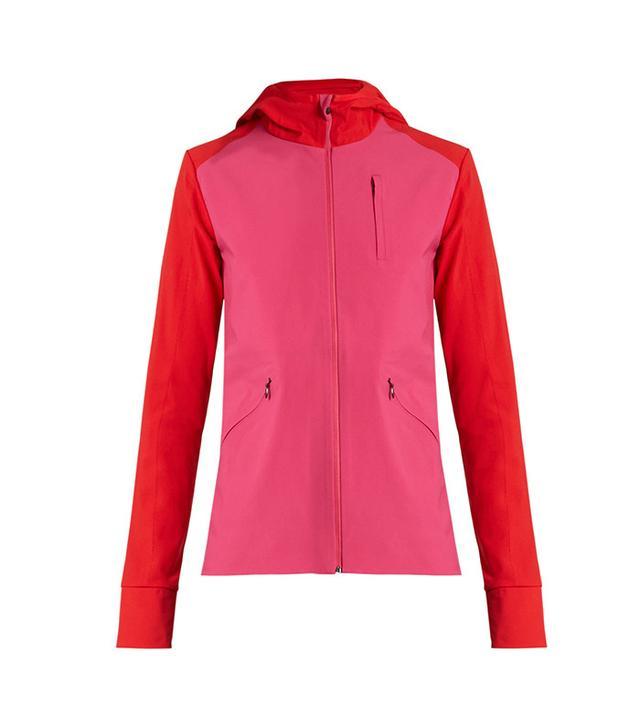 hooded running jacket