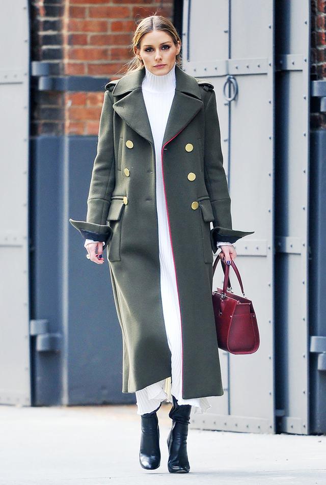 Olivia Palermo street style military coat