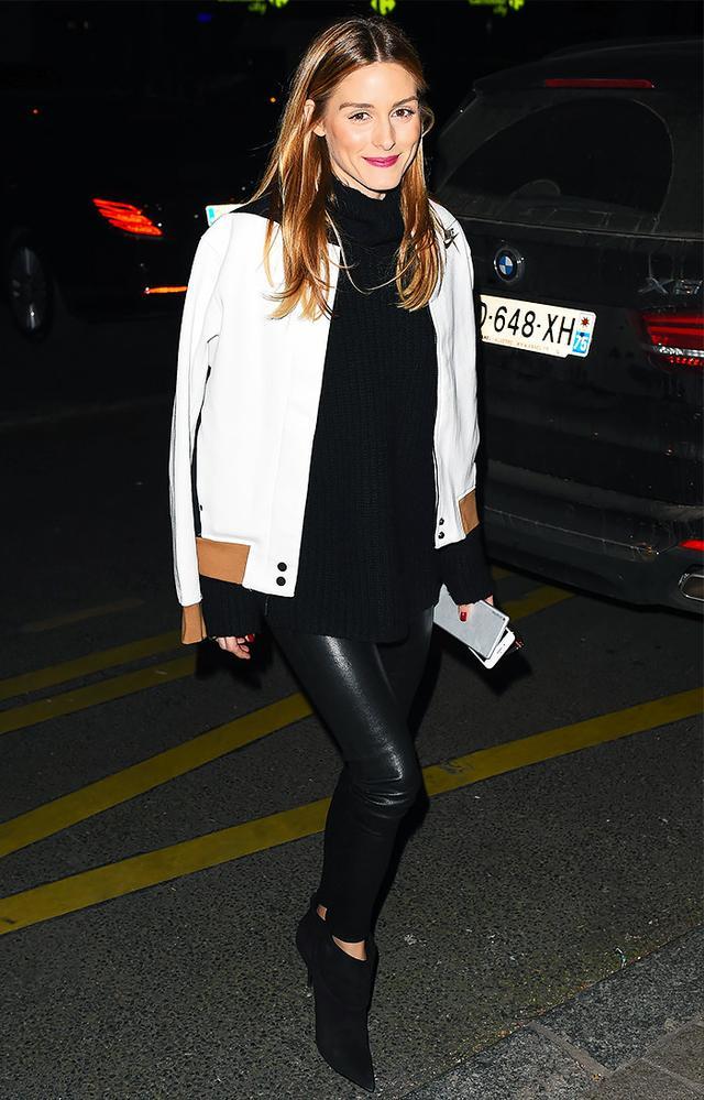 Olivia Palermo wearing Nike jacket