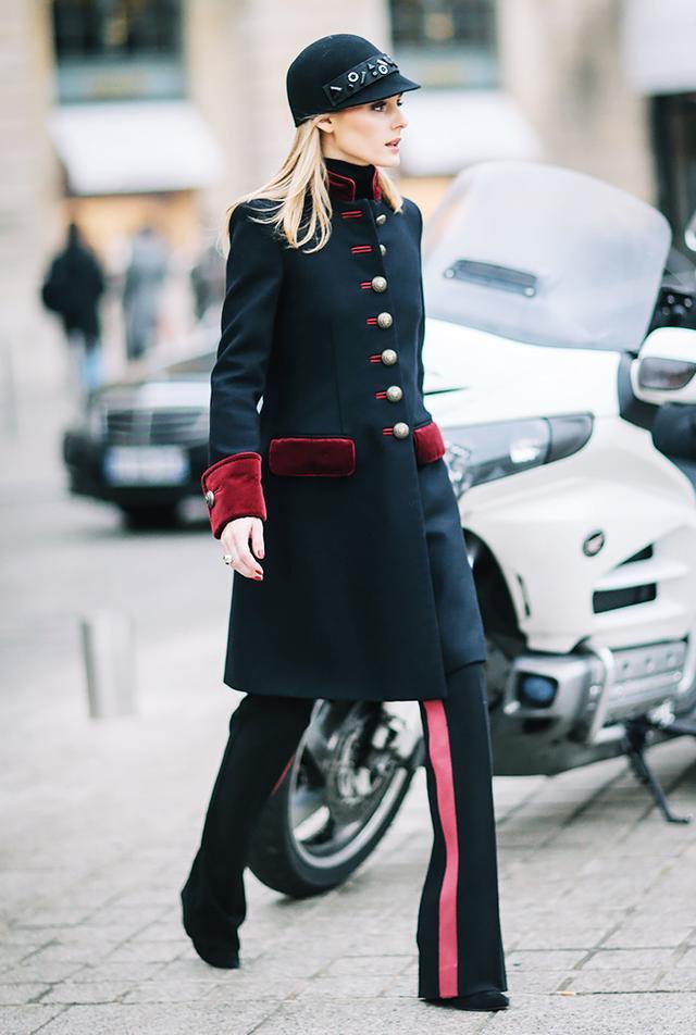 Olivia Palermo track pants street style