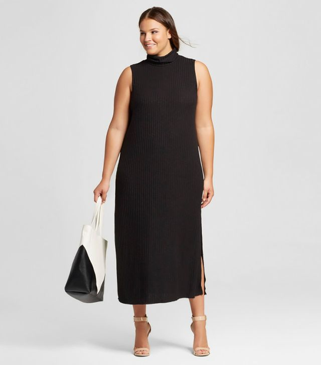 Who What Wear Collection Women's Plus-Size Sleeveless Turtleneck Dress