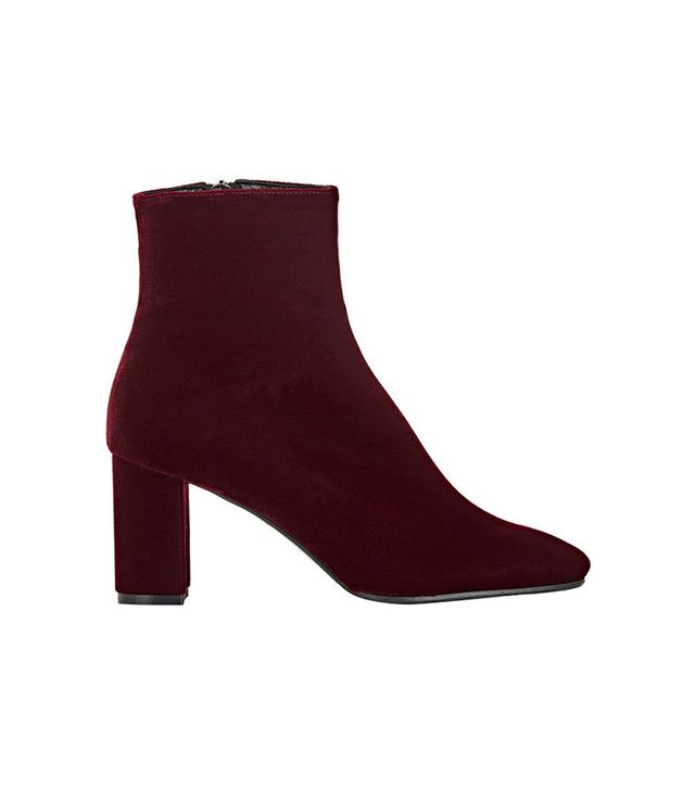 Barneys New York Velvet Ankle Boots