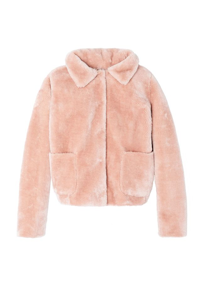 Rebecca Taylor La Vie Faux-Shearling Jacket