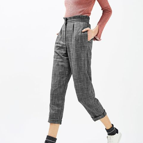 Ruffle Checked Mensy Trouser