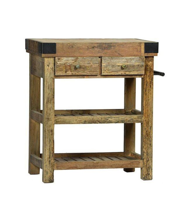 Old Wood Butcher Block