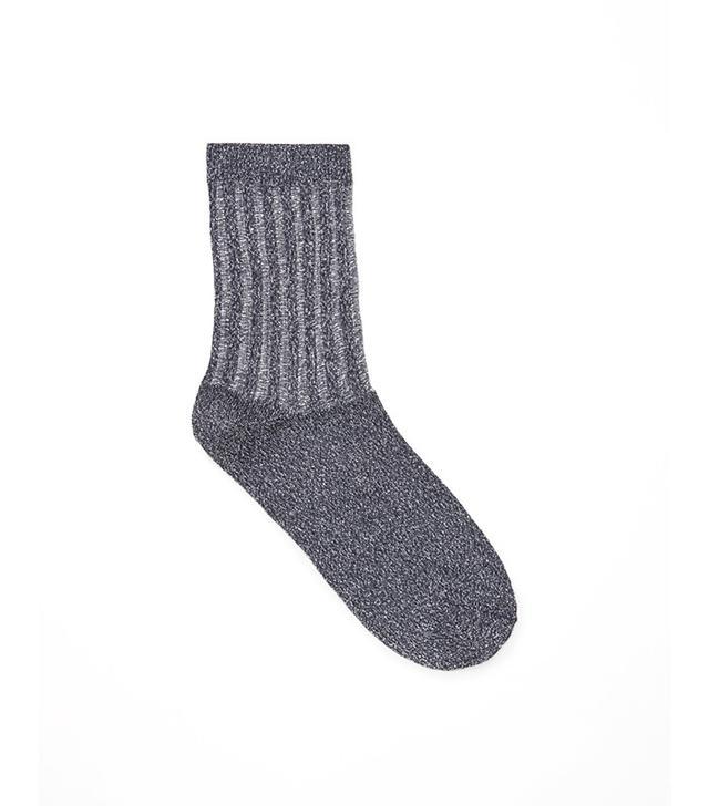COS Sheer Detail Glitter Socks