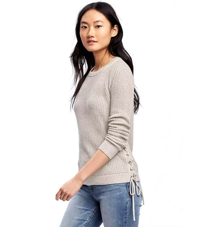 Old Navy Relaxed Textured Tie-Up Sweater