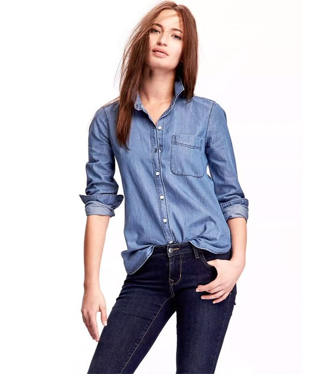 Old Navy Chambray Button-Down Shirt