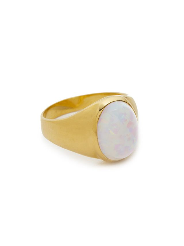 Jacquie Aiche Opal Signet Pinky Ring