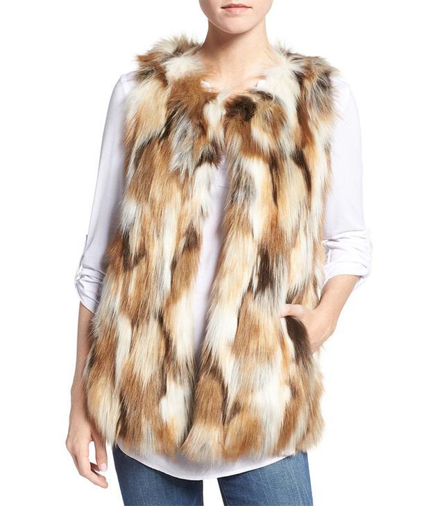 Love Token Multicolor Faux Fur Vest