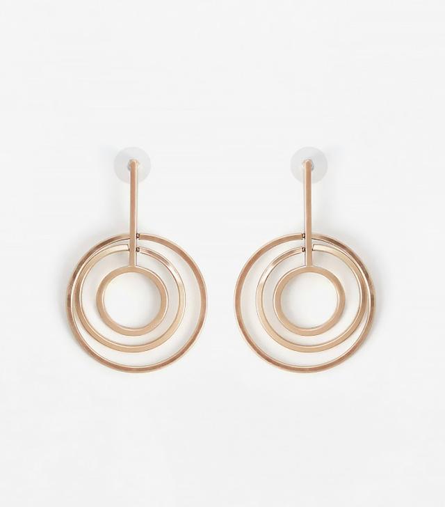 Mango Intertwined Hoop Earrings