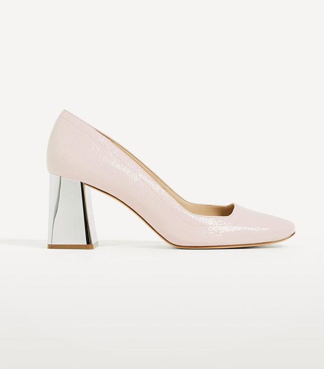 Zara Laminated High-Heel Patent-Finish Shoes