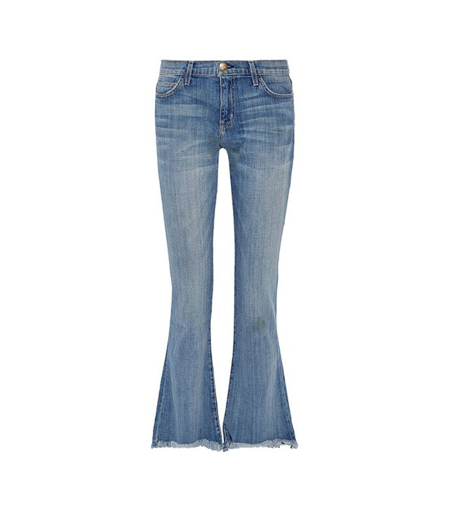Current Elliott The Flip-Flop Frayed Low-Rise Flared Jeans