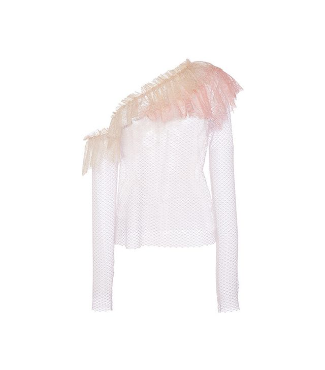 Philosophy Di Lorenzo Serafini Lace Ruffle Shoulder Blouse