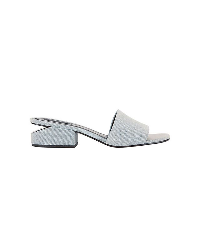 Alexander Wang Lou Denim Slide Sandals