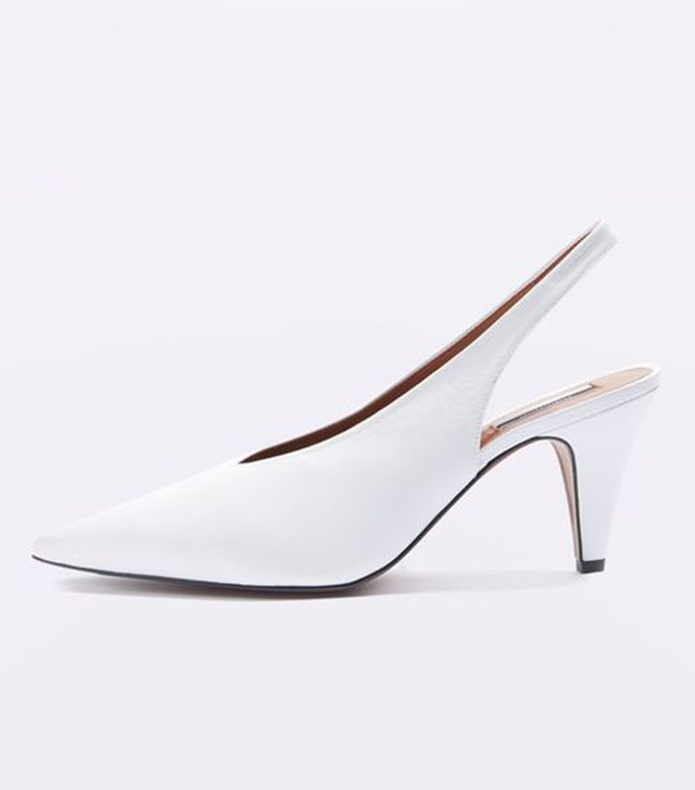 Topshop Jemma Point Mid-Heel Court Shoes