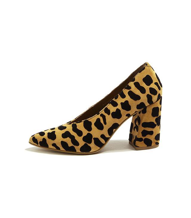 Topshop Gina V-Cut Flare Block Heels
