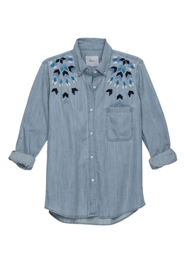 Rails Brett Geo Embroidery Top