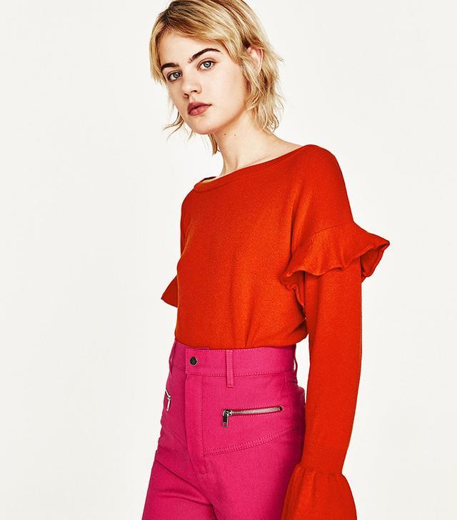 Zara Flounce Sweater