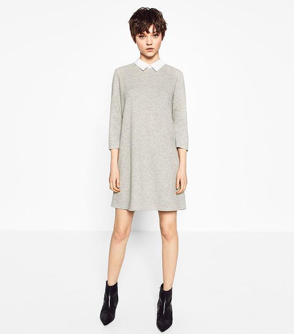 Zara Poplin Collar Dress
