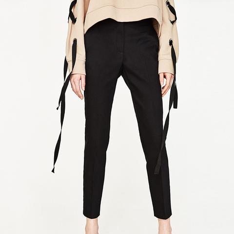 Stretch-Waist Skinny Trousers