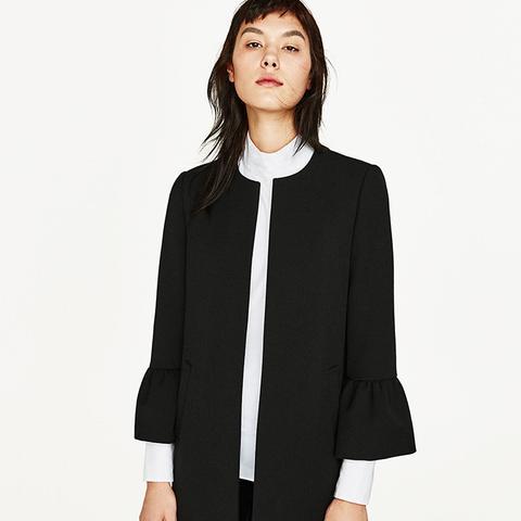 Frilled-Sleeve Coat