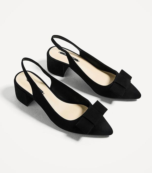 Zara High-Heel Backless Shoes