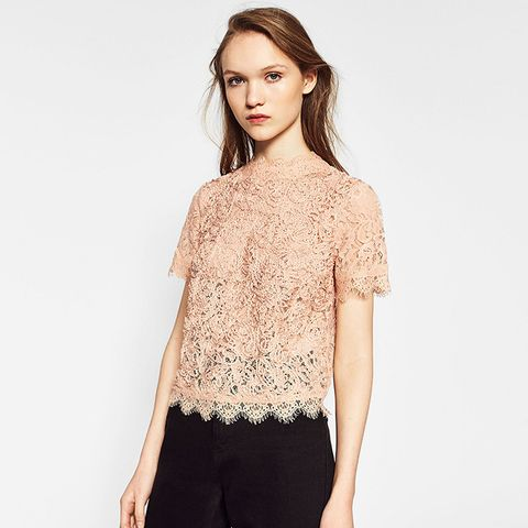Embroidered Lace T-Shirt
