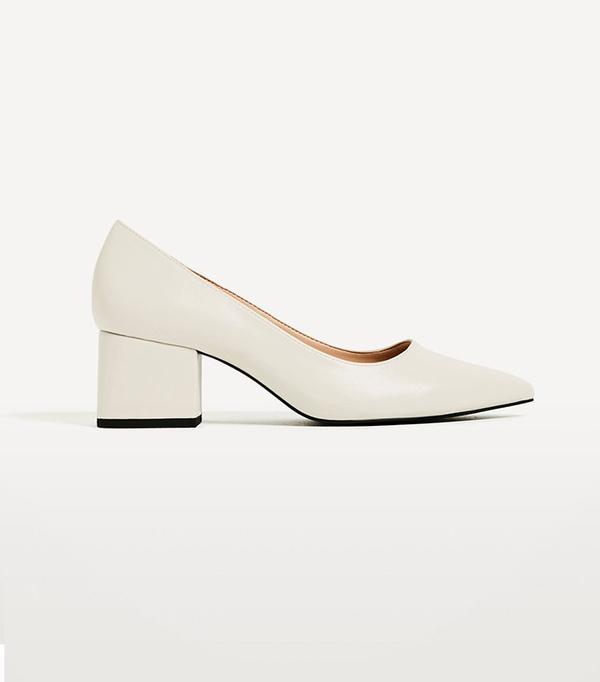 Zara Wide Medium-Heel Shoes