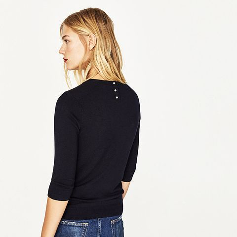 Sweater With Pearly Back