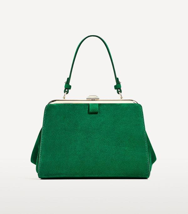 Zara Mini Split Suede City Bag