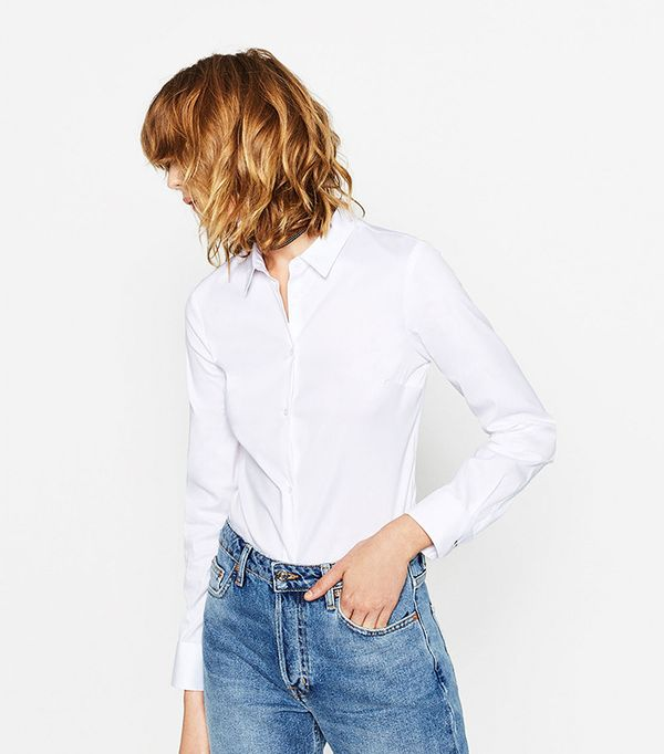 Zara Poplin Shirt