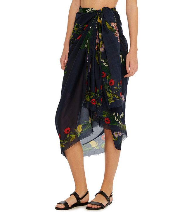 Stella McCartney Embroidered Floral Sarong