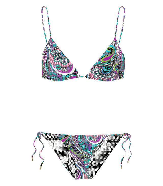 ETRO Reversible Printed Triangle Bikini