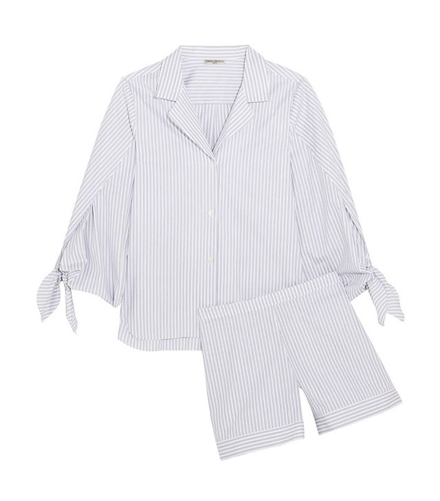 Three Graces London Bardeu and Clarence Striped Cotton Pajamas