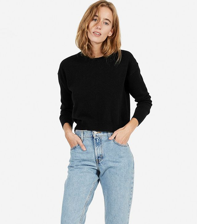 Everlane The Cashmere Cropped Crew