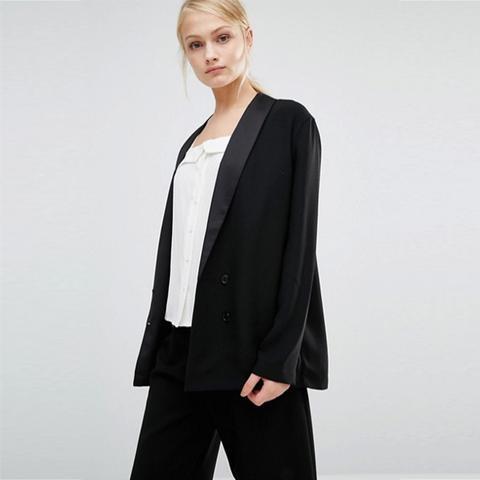 Selected Melanie Silk Lapel Blazer