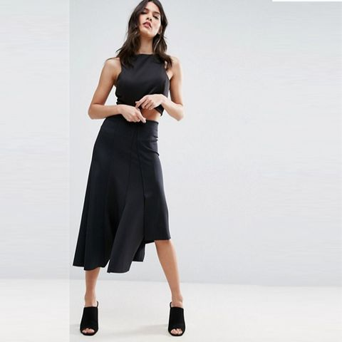 Midi Skirt in Deconstructed Jersey