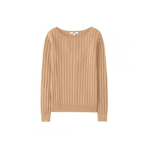 Cotton Cashmere Wide Ribbed Sweater