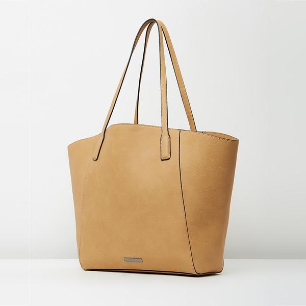 Zara Tote With Metallic Handles