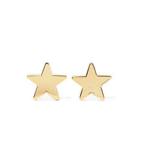 Star 18-Karat Gold Earrings
